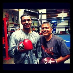 Cleveland's Eduardo Alicea & Robert Garcia take a break from training